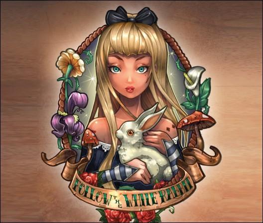 J'ai suivi un lapin blanc qui m'a emmenée au pays des merveilles. Je suis :