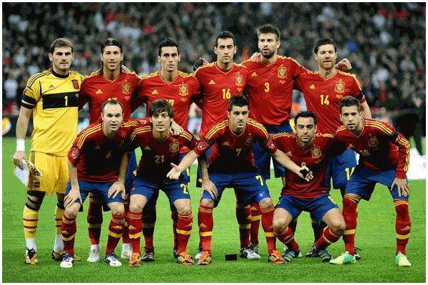 Joueurs de la Roja champion d'Europe 2012