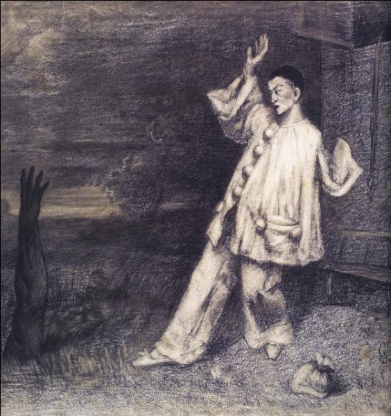 Quel peintre français, chef de file du courant réaliste, a exécuté ce dessin en intitulé  Le bras noir  ?