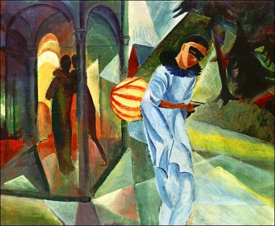 Quel peintre expressionniste allemand a réalisé ce tableau intitulé  Pierrot  en 1913 ?