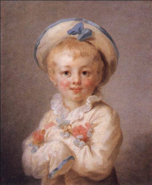 Quel est ce peintre français, né à Grasse, un des plus importants du 18ème siècle, qui a peint  L enfant en Pierrot  ?