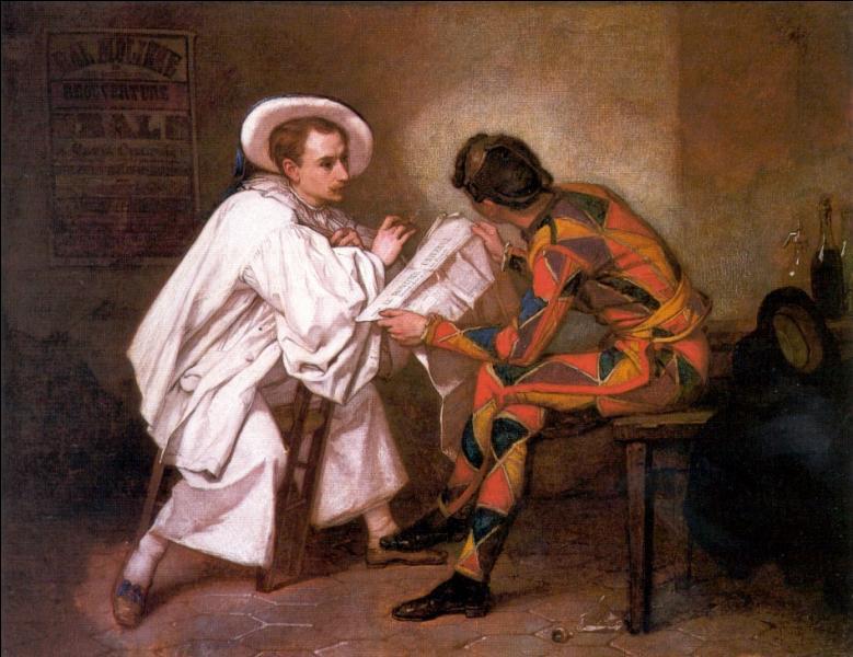 Quel peintre d'histoire français du 19e siècle né à Senlis a representé  Pierrot le politicien