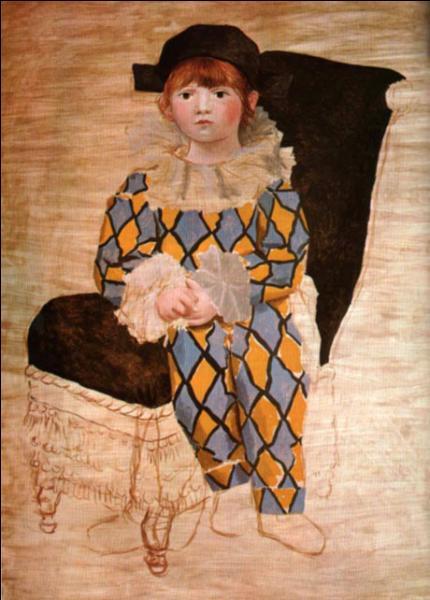 Qui a représenté son fils Paul en Arlequin, en 1924 ?