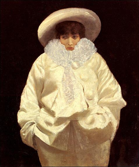 Qui a peint  Sarah Bernhardt en Pierrot  ?