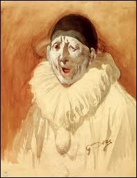 A quel célèbre peintre, sculpteur et graveur français, illustrateur de grands ouvrages tels que les oeuvres de Rabelais ou les contes de Perrault, doit-on ce  Pierrot grimaçant  ?