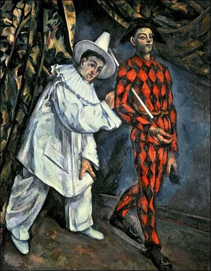 A quel peintre né à Aix-en-Provence, auteur d'un grand nombre de paysages provençaux, notamment la montagne Sainte Victoire, doit-on  Pierrot et Arlequin  (Mardi gras) ?