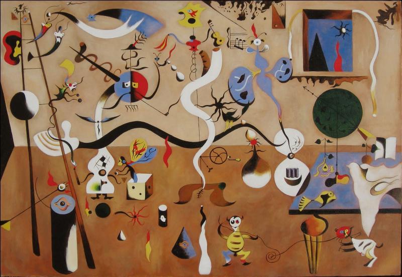 Le carnaval d'Arlequin , est une des toiles majeures de la période surréaliste de ce peintre, influencé à ses débuts par le fauvisme, l'expressionisme et le cubisme . De qui s'agit-il ?