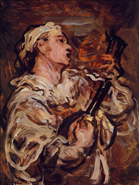 Ce peintre, caricaturiste et sculpteur français né à Marseille, a réalisé  Pierrot chantant à la mandoline  en 1873. Qui est-il ?