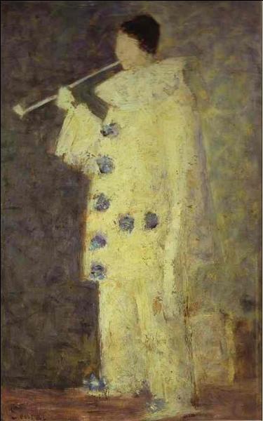 A quel peintre post-impressionniste, créateur de la technique pointilliste, doit-on ce   Pierrot à la pipe blanche  ?