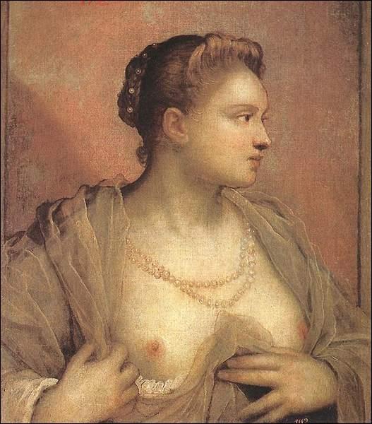 Cette très belle courtisane romaine (d'origine vénitienne) aurait été la dernière maîtresse du pape Pie IV qui mourut d'épectase dans ses bras en 1565. On ne sait pas grand chose sur ce personnage sinon sa date de naissance. Elle fut modèle pour peintre et sculpteurs, et aurait notamment servi de modèle au Tintoret pour ses tableaux. Qui est-ce ?