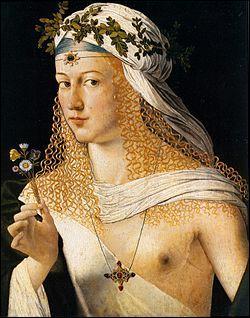 Qui est cette romaine, belle, fille d'un pape (1480-1519), protectrice des arts et des lettres, mais aussi célèbre pour ses moeurs dissolues ?