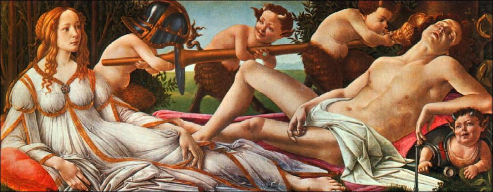 Voilà un tableau sur le thème de Mars et Vénus, un tableau de: