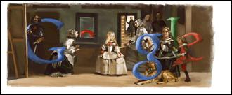 Le géant des moteurs de recherche décline parfois son logo. Ici de qui est le tableau original ?