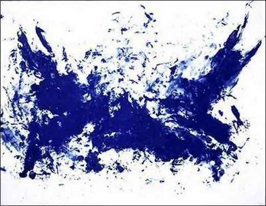 Voilà un peintre qui s'est fait connaitre pour son bleu, le tableau 'la grande bataille' est une de ses oeuvre, de qui parle-t-on ?