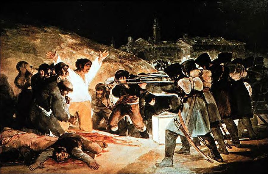 Qui a peint 'Les exécutions sur la colline Principe Pio' ?