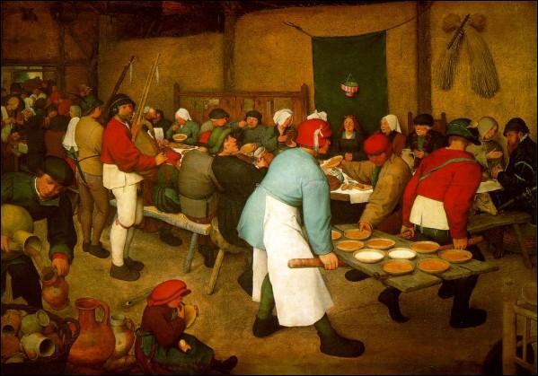 """Quel artiste flamand de la Renaissance a exécuté ce tableau intitulé """"Le repas de noce"""" ou """"La noce paysanne"""" ?"""