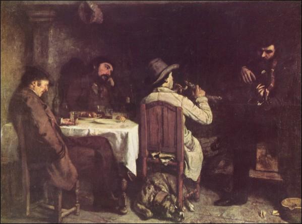 """Quel artiste, chef de file du courant réaliste, a peint """"L""""Après-dînée à Ornans"""" ?"""