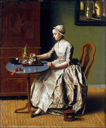 """Peintre tourné vers l'orientalisme après un voyage à Constantinople, il était surnommé le""""peintre turc"""", ayant adopté le costume oriental . Il a peint """"Dame versant du chocolat"""" en 1744. Il s'agit de :"""