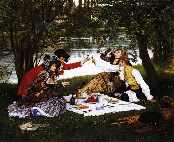 """Artiste ayant vécu longtemps en Angleterre, il était apprécié comme peintre de la haute société de l'époque victorienne. Cette """"Partie carrée"""" a été peinte en 1870. De qui s'agit-il ?"""