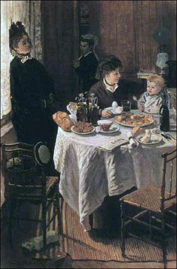 """Quel est ce tableau peu connu, d'un peintre impressionniste très connu, et intitulée """"Le déjeuner"""" ?"""