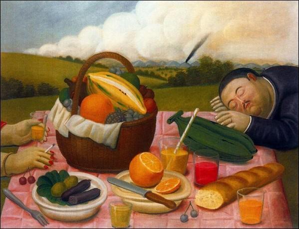 """Peintre et sculpteur latino-américain, né en 1932, il a réalisé """"Picnic II"""" en 1989. qui est-il ?"""