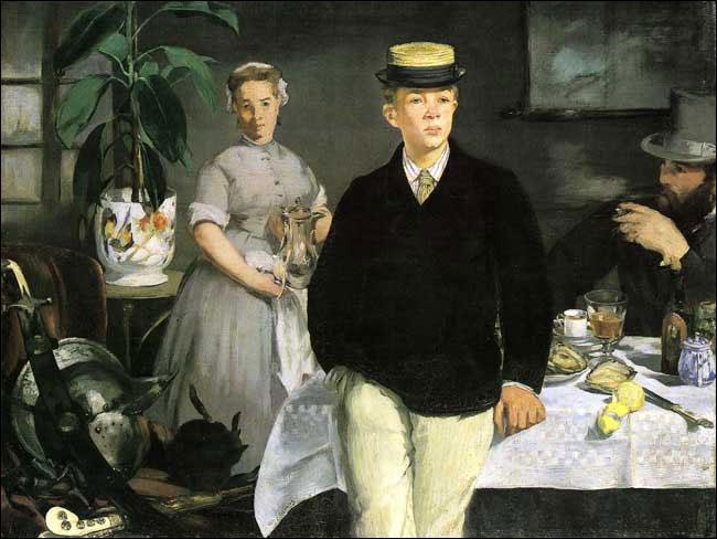 """Quel peintre impressionniste a réalisé """"Le déjeuner à l'atelier"""" en 1868 ?"""