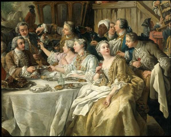 """Quel peintre d'histoire français a réalisé """"Le déjeuner de chasse"""" en 1737 ?"""