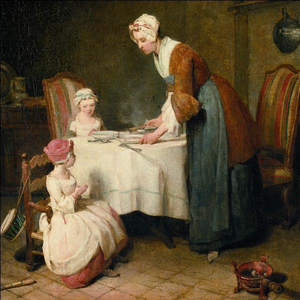 """Peintre du 18ème siècle, connu surtout pour ses natures mortes et ses pastels, on lui doit """"Le Bénédicité"""", tableau conservé au Musée du Louvre ?"""