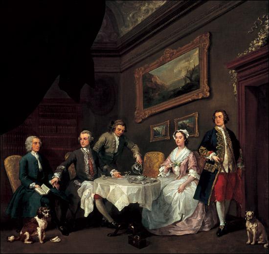 """Quel peintre et graveur anglais du 18ème siècle a réalisé """"La famille Strode"""" ?"""