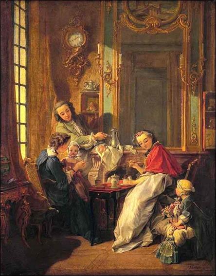 """""""Le déjeuner"""", exécuté en 1739, et exposé au Musée du Louvre, est l'oeuvre d'un peintre du mouvement artistique rococo. Quel est ce peintre ?"""