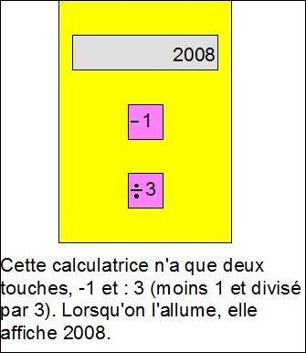 Combien Julien doit-il frapper de touches, au minimum, pour que la calculatrice affiche 1 ?