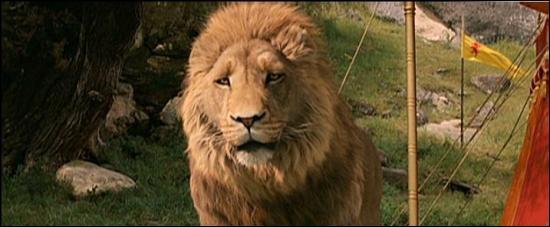 Quel le nom du lion , roi de narnia ?