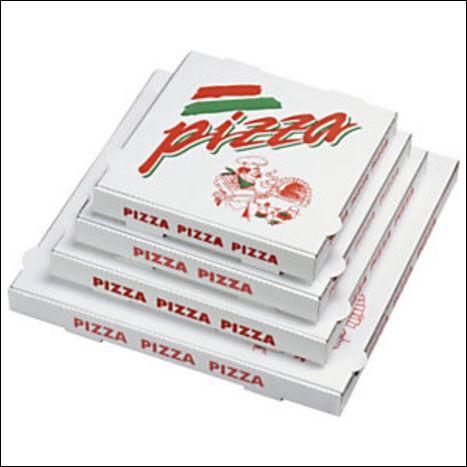 Où est-il préférable de jeter les cartons usagés de pizzas livrées ?