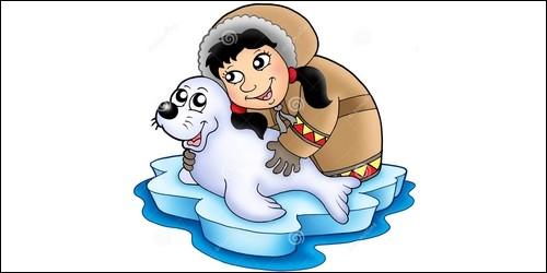 """Le féminin de du mot """"esquimau"""" c'est """"esquimaude""""."""