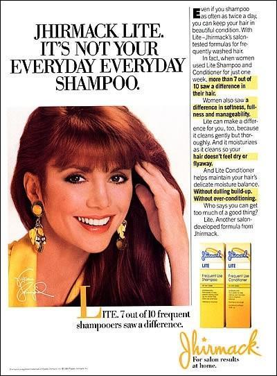Vous souvenez-vous de  Dallas  et de la très belle Victoria Principal, elle ne pouvait échapper à la publicité !