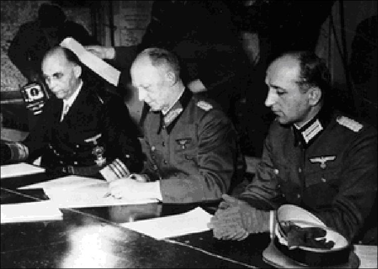 A votre avis, combien de fois la capitulation de l'Allemagne nazie a-t-elle été signée ?