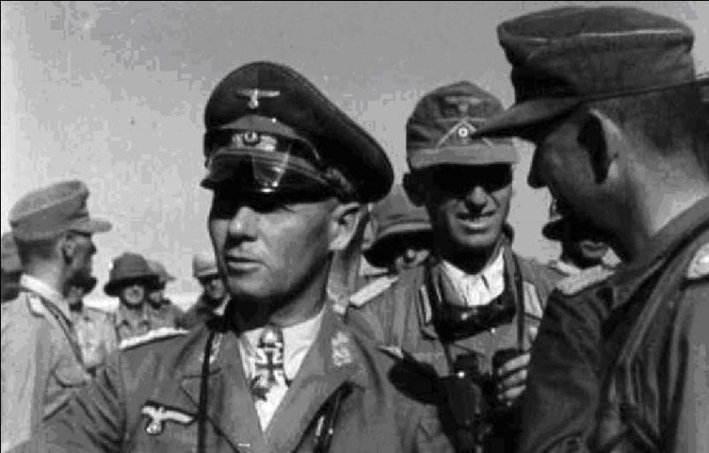 Quel est le nom du chef de l'armée allemande (Afrika Korps) qui combattit en Tunisie, Cyrénaïque (Lybie), et en Egypte ?Plus tard il prit le commandement d'une partie des troupes allemandes dans les Balkans puis en Normandie.
