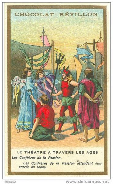 En 1398 naquit la première troupe de théâtre. Elle réunit des bourgeois, des notables, des merciers, des tapissiers, des épiciers. Elle a pour nom :