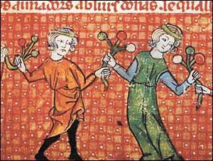 De quoi s'est-on contenté au début pour divertir le peuple (On parle ici du tout début au XIe siècle) ?