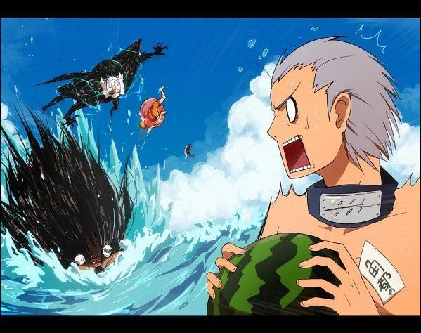 Regardez bien... Kakuzu éjecte quelqu'un au passage. Qui ?