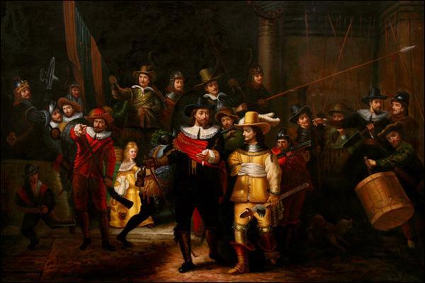 Quel peintre, considéré comme un des plus importants de l'école hollandaise du 17e siècle, a réalisé  Ronde de nuit  en 1642 ?