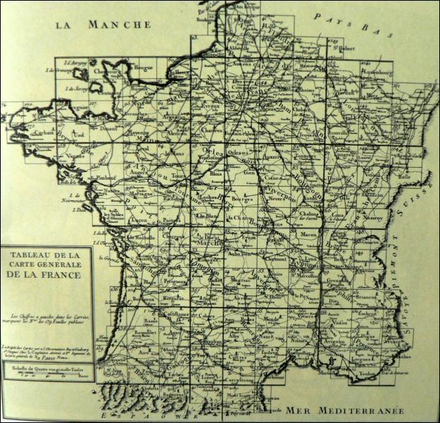 Quel est le nom de famille des savants qui dessinèrent la première carte de France au 1 : 86 400 ?