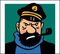 Dans quel album le capitaine dégringole les escaliers en pyjama ?