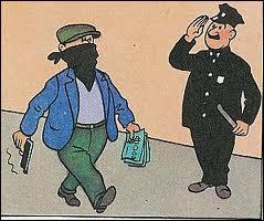 Dans  Tintin en Amérique , pourquoi donc un agent de police assomme-t-il Tintin ?