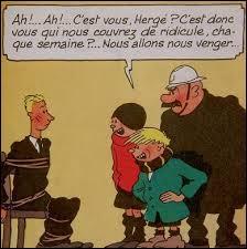 Dans quel Album voit-on Hergé, Quick et Flupke en figurant ?