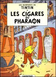 Dans  Les Cigares du Pharaons  un Sheik montre à Tintin son admiration pour ses aventures et lui présente un album qui est anachronique par rapport aux  CIgares . Lequel ?