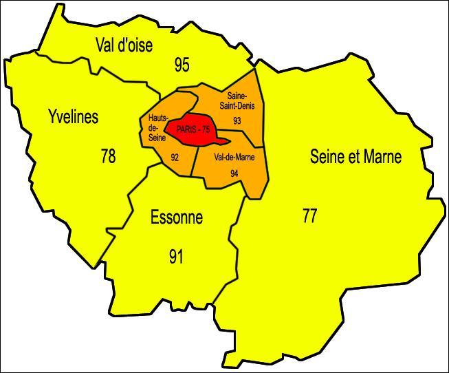 Paris est la préfecture de la Région Île-de-France :