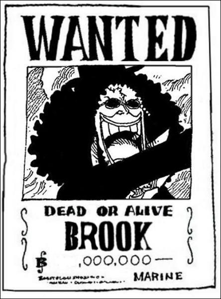 A combien de berrys d'élève la prime de Brook ?