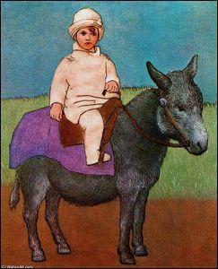 Paul sur un âne.