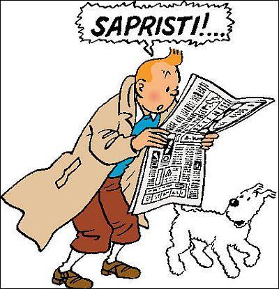 Qui est ce jeune reporter, toujours accompagné de son fox-terrier Milou, créé par Georges Rémi (alias Hergé), le plus connu à ce jour dans le monde de la bande dessinée franco-belge ?